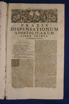 C. Pirro, Praxis dispensationum apostolicarum 1735